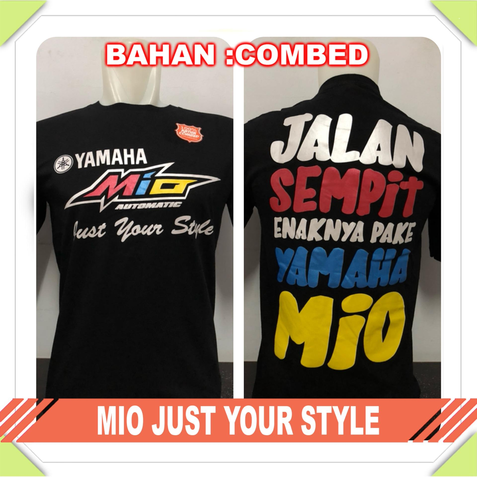 Gracestore - Kaos T-shirt Distro Premium Mio Just Your Style - Hitam