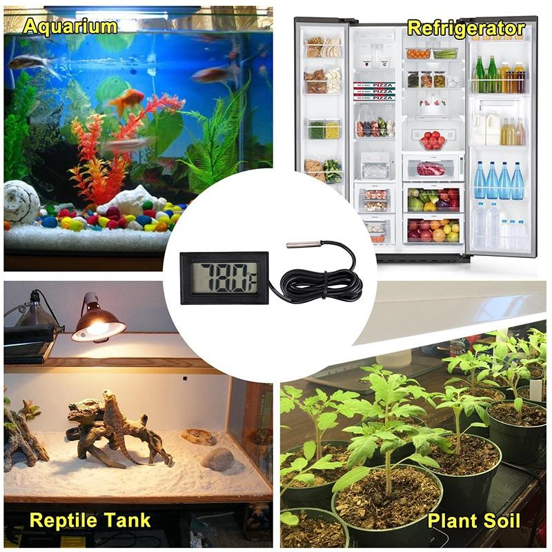 Digital Thermometer with Probe for Aquarium Panjang 1 Meter Termometer Alat Pengukur Suhu Air Akuarium