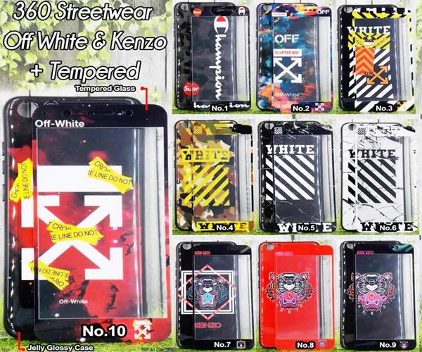 ... Softcase Jelly Glossy Streetwear OFF White & Kenzo For OPPO A71 Free Tempered Glass 360 motif