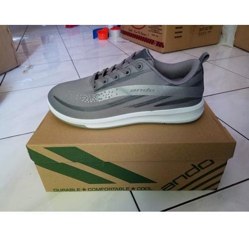 Ando Ananta Sepatu Olahraga Wanita Sepatu Lari Warna Abu Abu - 5 .