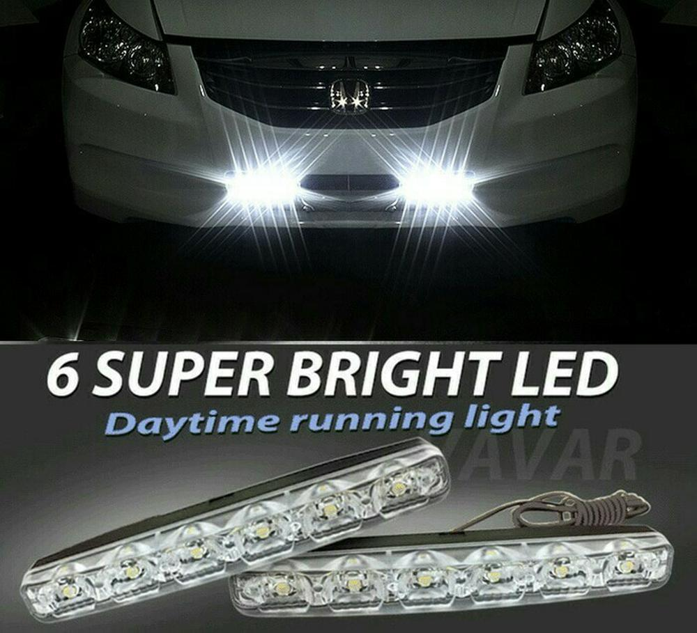 LAMPU LED DRL 6 LED SUPER WHITE | LED DAY TIME RUNNING LIGHT | LAMPU GRILL MOBIL | LED LUXEON GRILL di lapak RK MOTOR CILEDUG ekranoplane