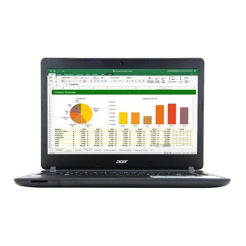 PROMO Acer Aspire ES1-432-C08S / C45N BLACK LAPTOP COCOK buat pelajar dan pekerja kantor + bonus tas laptop HARDISK 500GB (FREE ASURANSI)