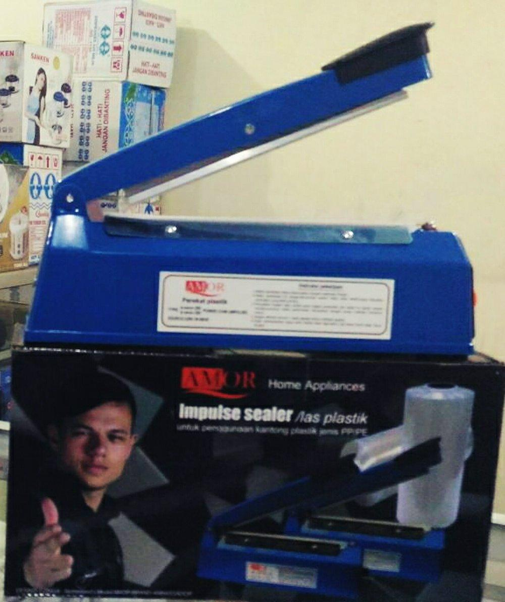 PFS 200 Impulse Sealer / Alat Press Plastik Makanan 20 cm merk AMor