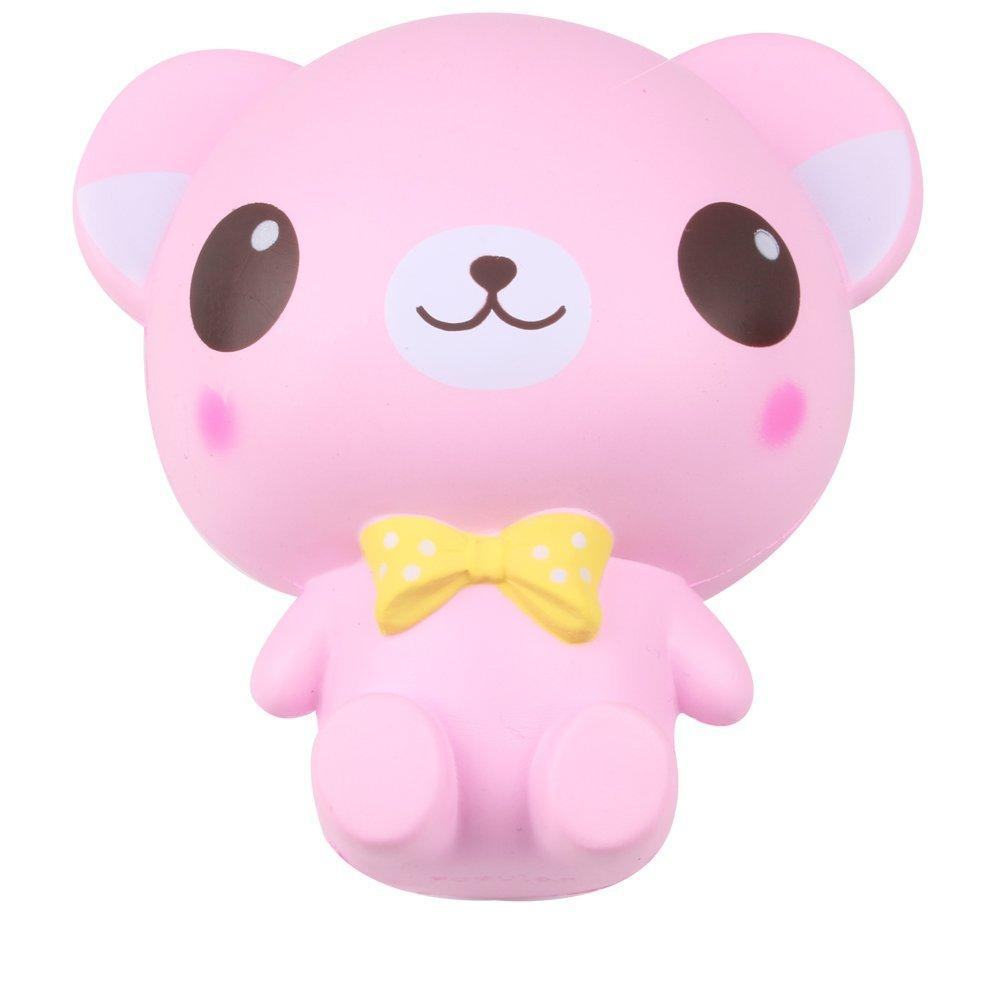 Squishy Cartoon Big Eye Bear 16CM Slow Rising Squeeze Phone Straps Relieves Stress Decor Toys