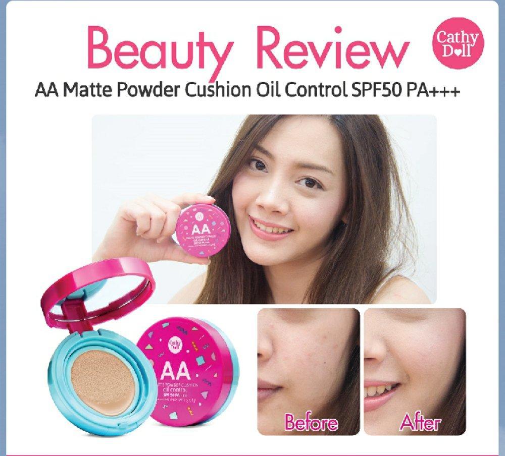 Detail Gambar Cathy Doll AA Matte Powder Cushion Oil Control SPF50 PA+++ #21 Light Beige Terbaru
