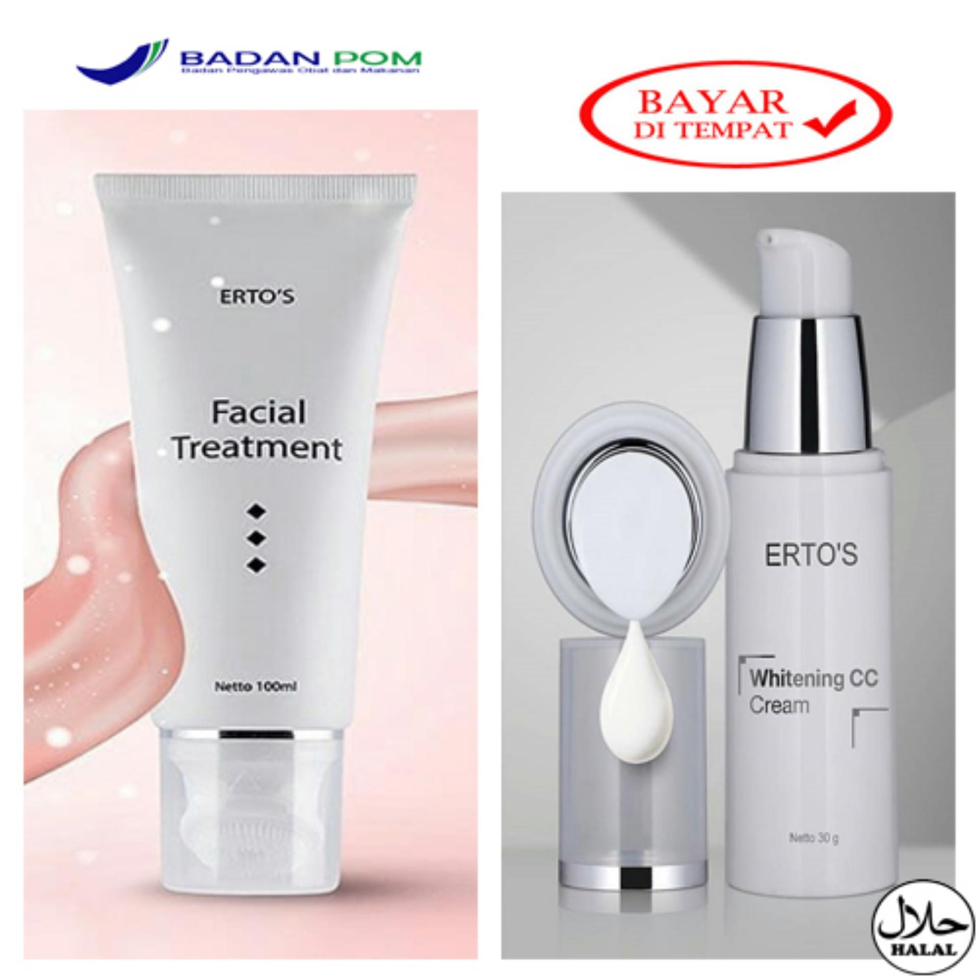 Fitur Ertos Original Whitening Treatment Paket Pemutih Cc Baked Powder All In 1 Hemat Facial Cream