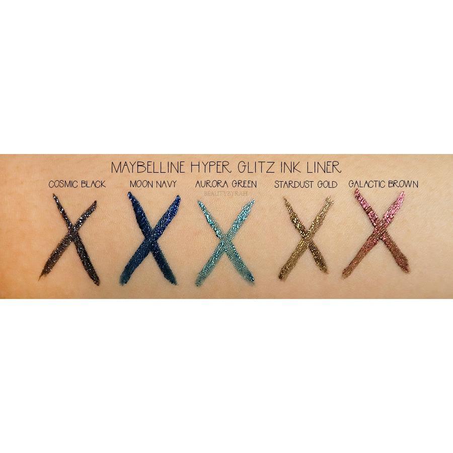 Fitur Maybelline Hyper Glitz Ink Liquid Eyeliner Eye Liner Stardust Black Detail Gambar Gold Terbaru