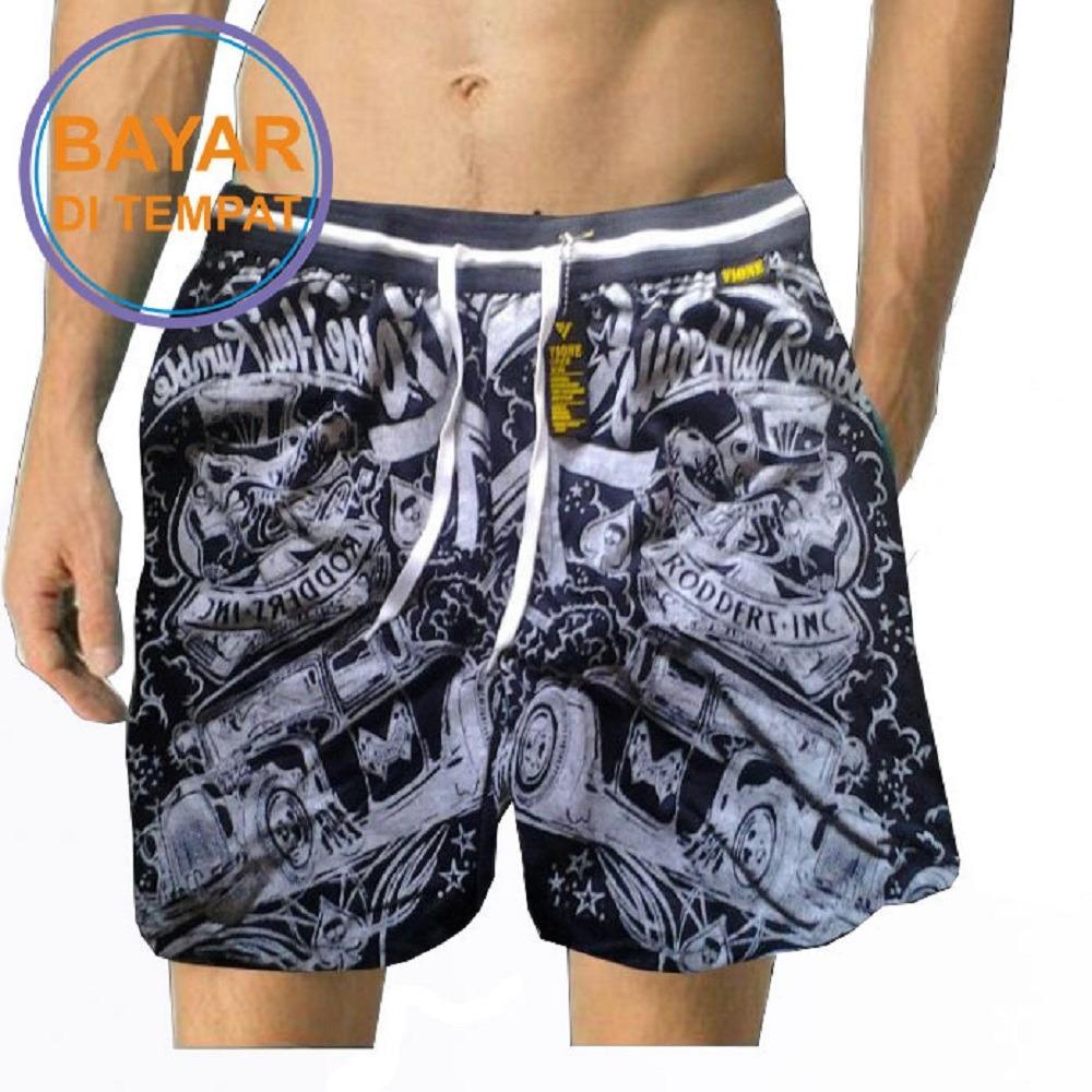 Gudang Fashion Celana Pantai Keren Pria Multicolor Daftar Harga Pendek Distro Polyester Multi Colour Cln 736 Jersey