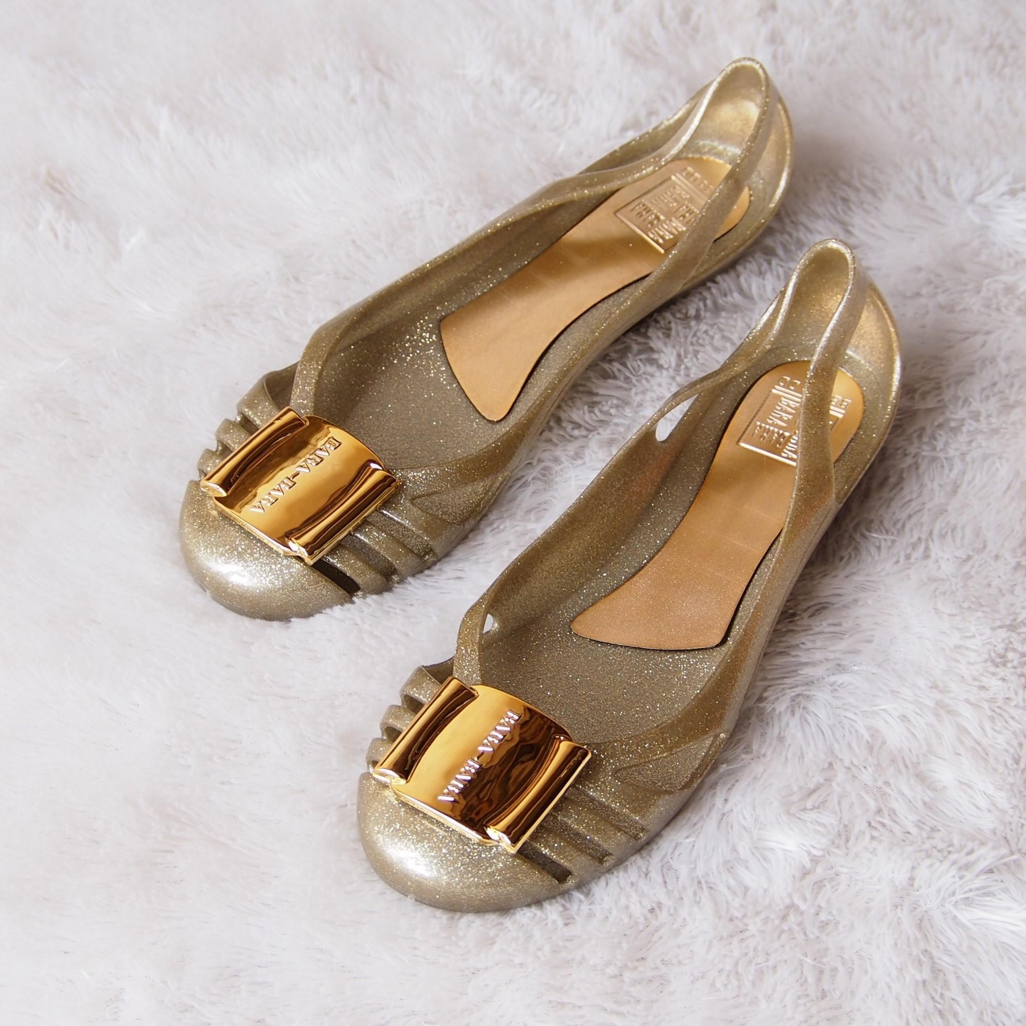 Jelly Shoes Bara Bara - Flat Shoes Jelly Wanita Glitter BB333GL2W