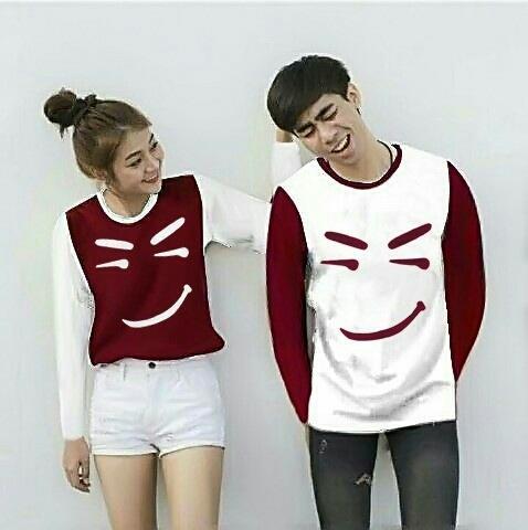 The Fashion Story - Kaos Couple Cengir T-shirt Couple Baju Pasangan Kaos Kompak Kaos