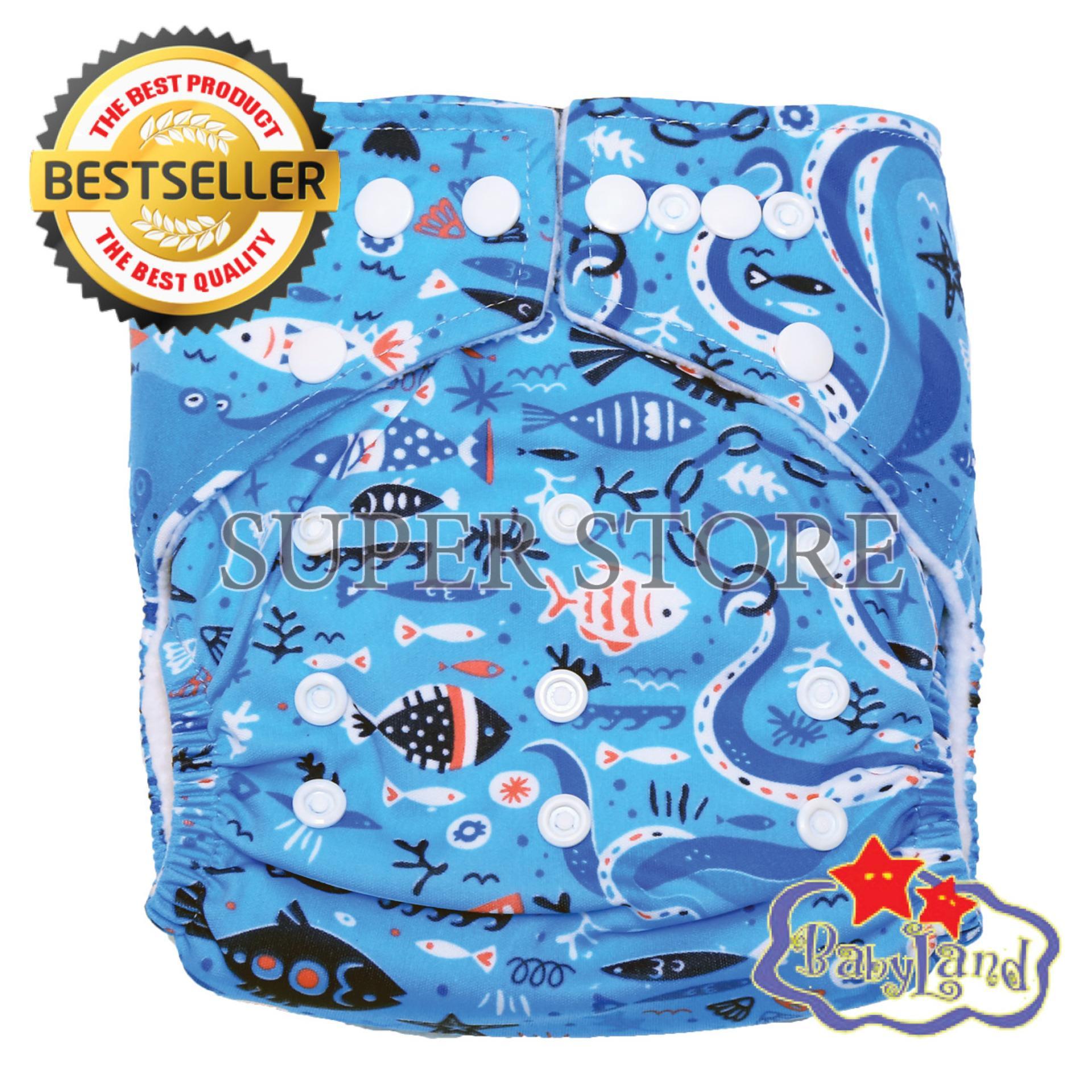 Harga Babyland Popok Bayi Cuci Ulang Pocket Motif Fish Jam Dengan 1 Insert Microfiber Clodi Bayi Cloth Diapers Pampers Kain Branded