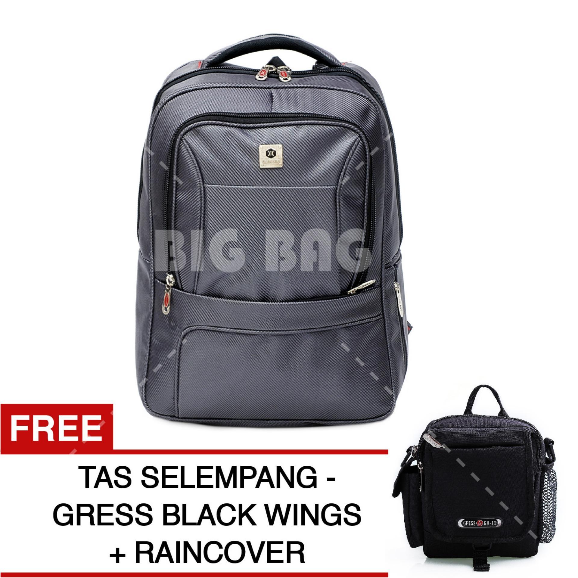 Tas Ransel Gear Bag - Silver Swarms Edition Tas Laptop Backpack + FREE Tas Selempang Gress Black Wings Tas Pria Tas Kerja Tas Messenger Tas Slempang Tas Fashion Pria