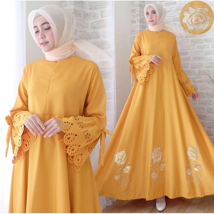 Lolypolyy Gamis Syari KaylaNew Colour - Baju Muslim / Fashion Wanita / Baju wanita / Baju Gamis / Busui / Gaun / Baloteli / XL / Jumbo / Syari