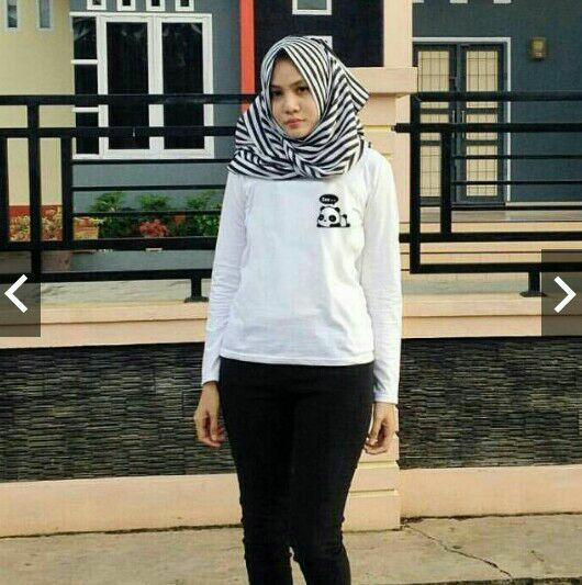 Naurafashion Baju Atasan Wanita T-shirt Kaos Wanita LP panda zzz