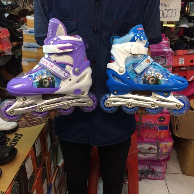 rollerblade atau sepatu roda karakter frozen original/100%