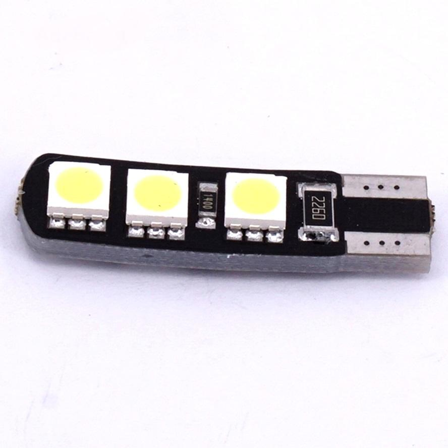 JMS - 1 Pcs Lampu LED Mobil / Motor / Senja T10 w5w / Wedge Side Canbus 6 SMD 5050 - Crystal Blue
