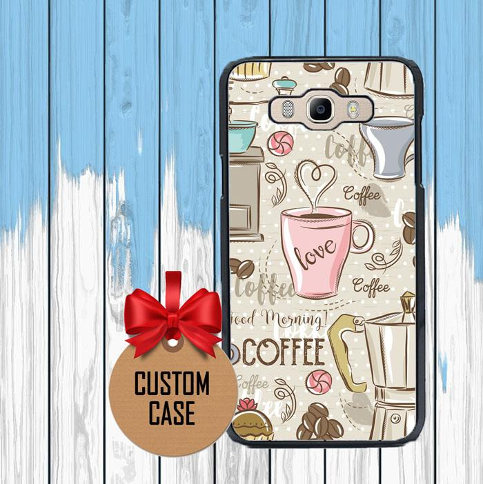 Coffee Wallpaper Cute O1292 Samsung Galaxy Samsung Galaxy J5 2016 Casing Custom Hardcase Case Cover