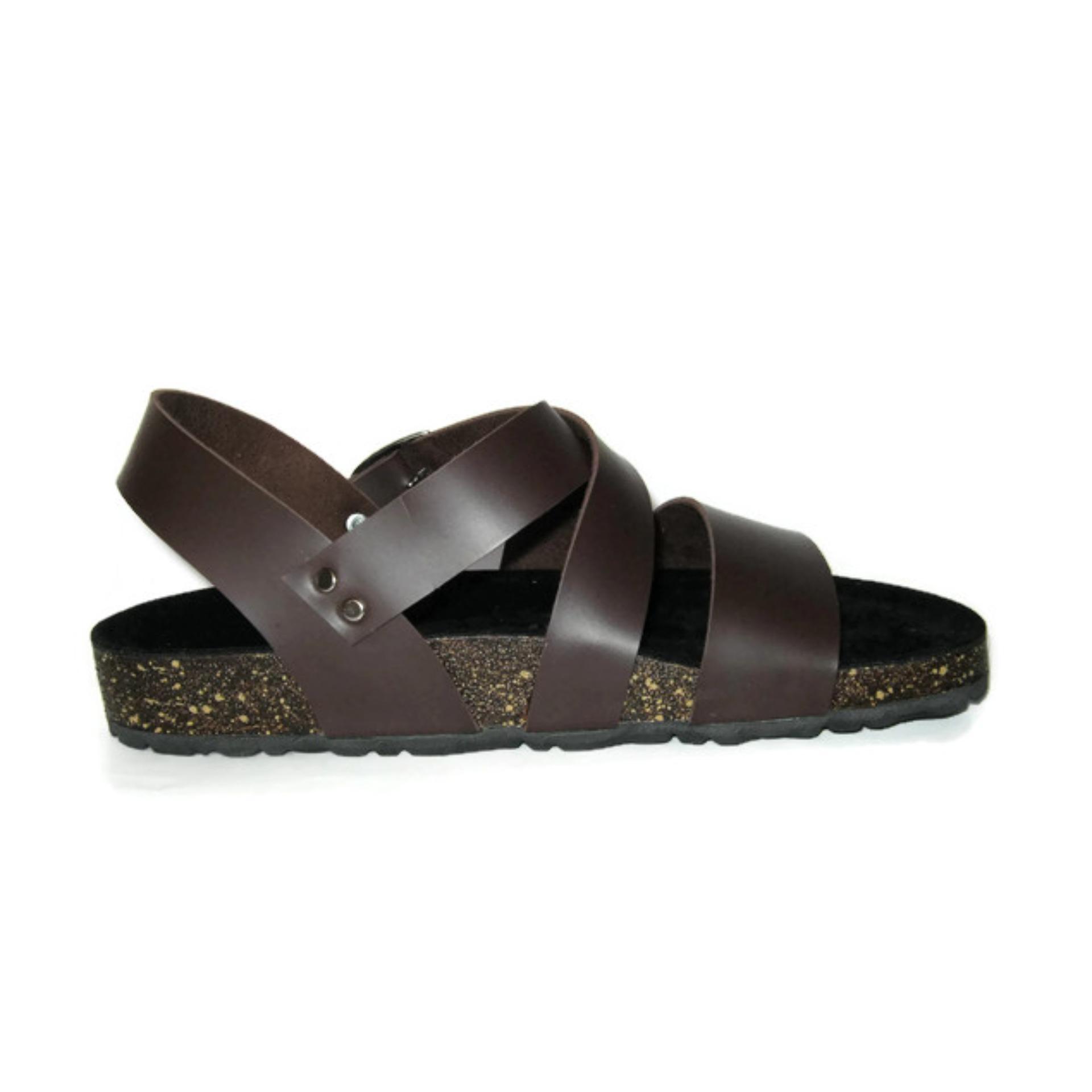 ... Morello Sandal Mens Roman Coklat - 4 ...