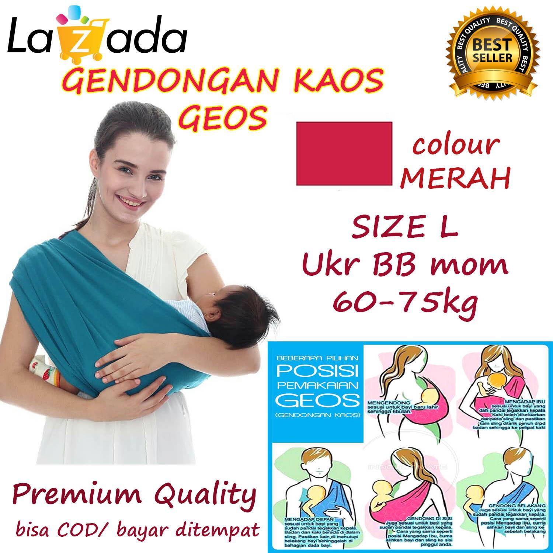 Features Baby Pouch Sling Gendongan Instan Bayi 2in1 Bahan Kaos Geos Bayikuid Wrap Cheryl Premium Selendang Praktis Ukuran L Merah