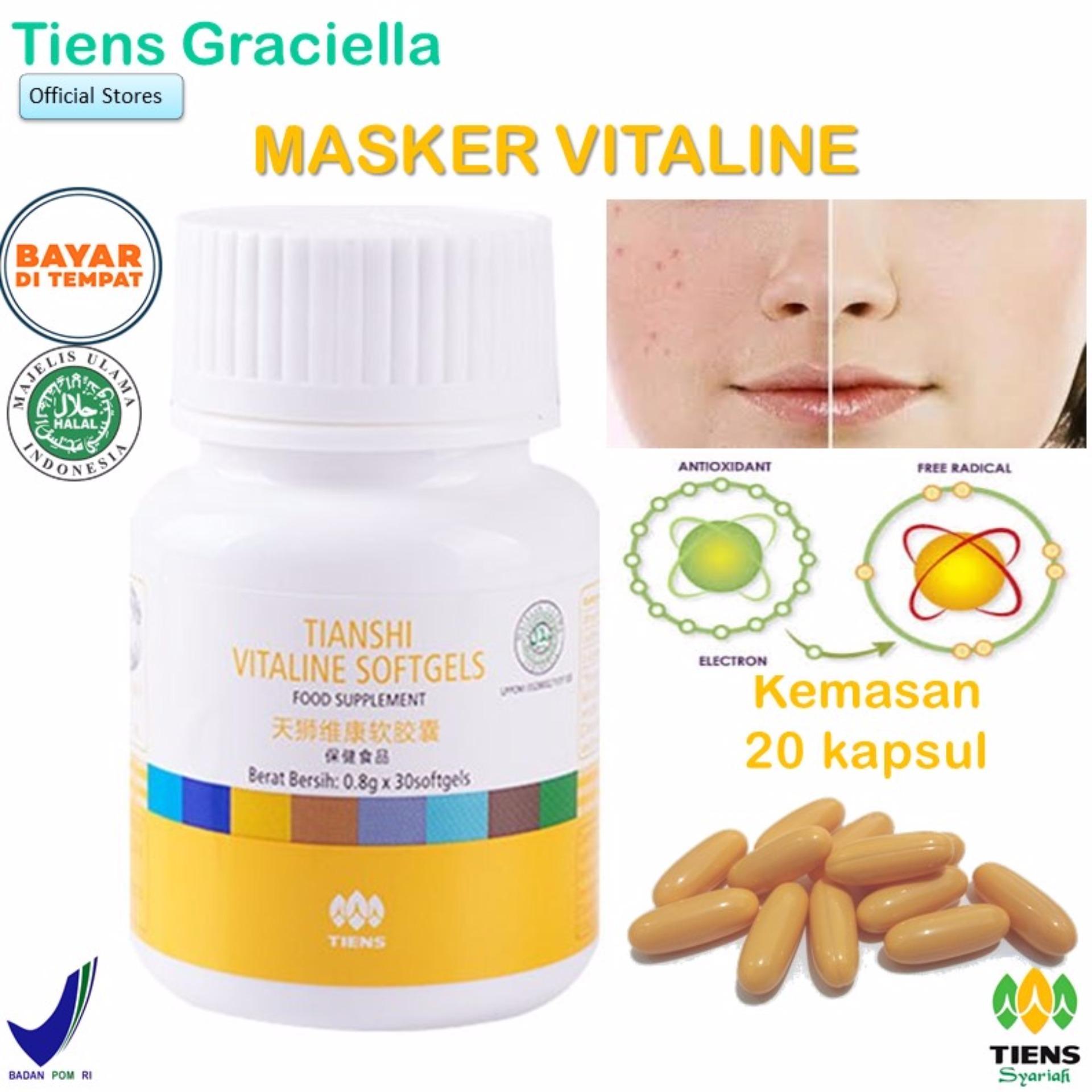 Toko Tiens Vitaline Vitamin E Pembersih Flek Jerawat Paket Promo Banting Harga 20 Softgel Gratis Kartu Diskon Tiens Graciella Online Di Indonesia