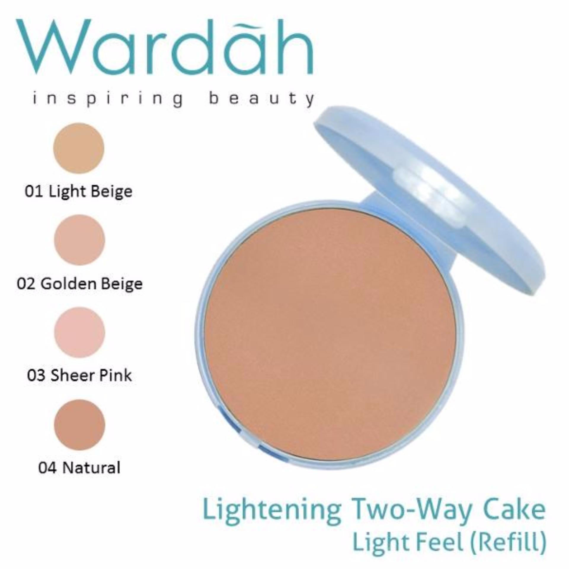 Kelebihan Wardah Exclusive Two Way Cake Refill Isi Ulang 04 Natural Warda Luminous Refil Lightening