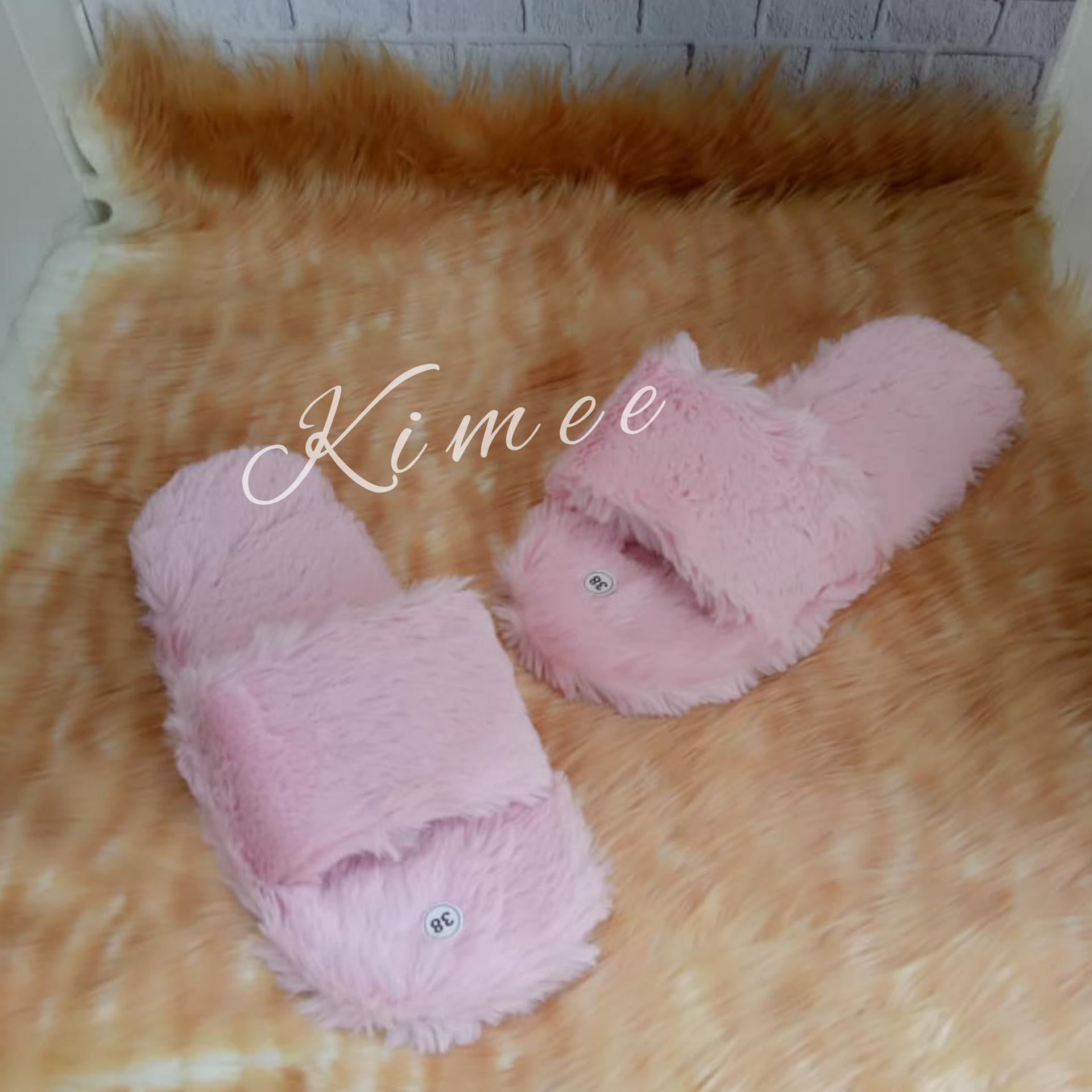 Detail Gambar Kimee - Sandal Bulu / Sandal Rumahan / Sandal Wanita Bulu / Sandal Wanita / Sandal Kokop Bulu STB.02 Terbaru
