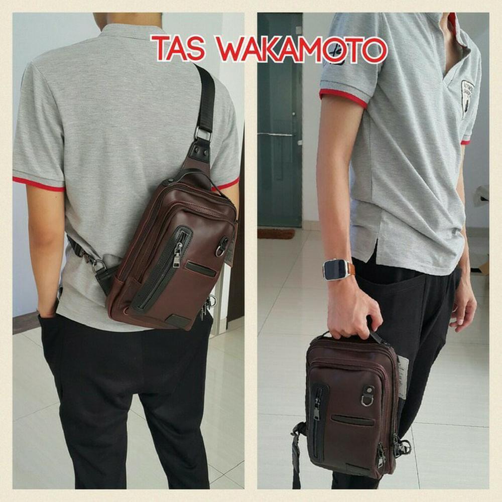 tas selempang pria - tas import murah - tas sekolah kuliah modern - tas kulit keren - tas powerbank hp rokok korek di lapak pelangi_bag bagusia08