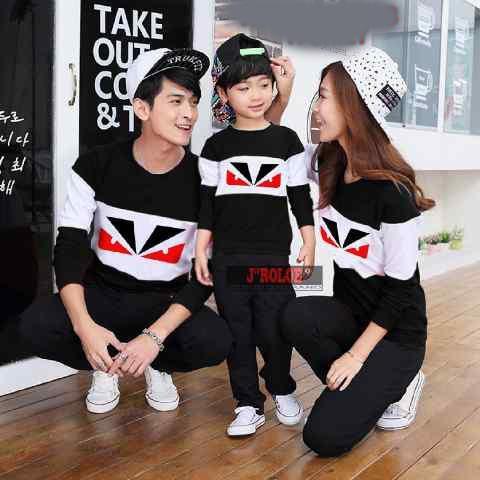harga Butikonline83 - Family Sweater Couple  Baju Keluarga Kapel  Jaket Kembaran ( Coupel / Capel / Copel ) Lazada.co.id