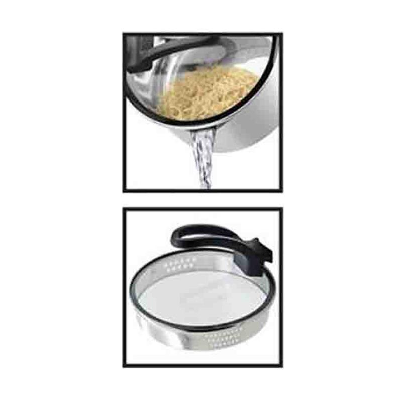 Galeri Produk Nagako Cookware Set Panci Dutch Oven Stainless Steel 5 Buah Silver .