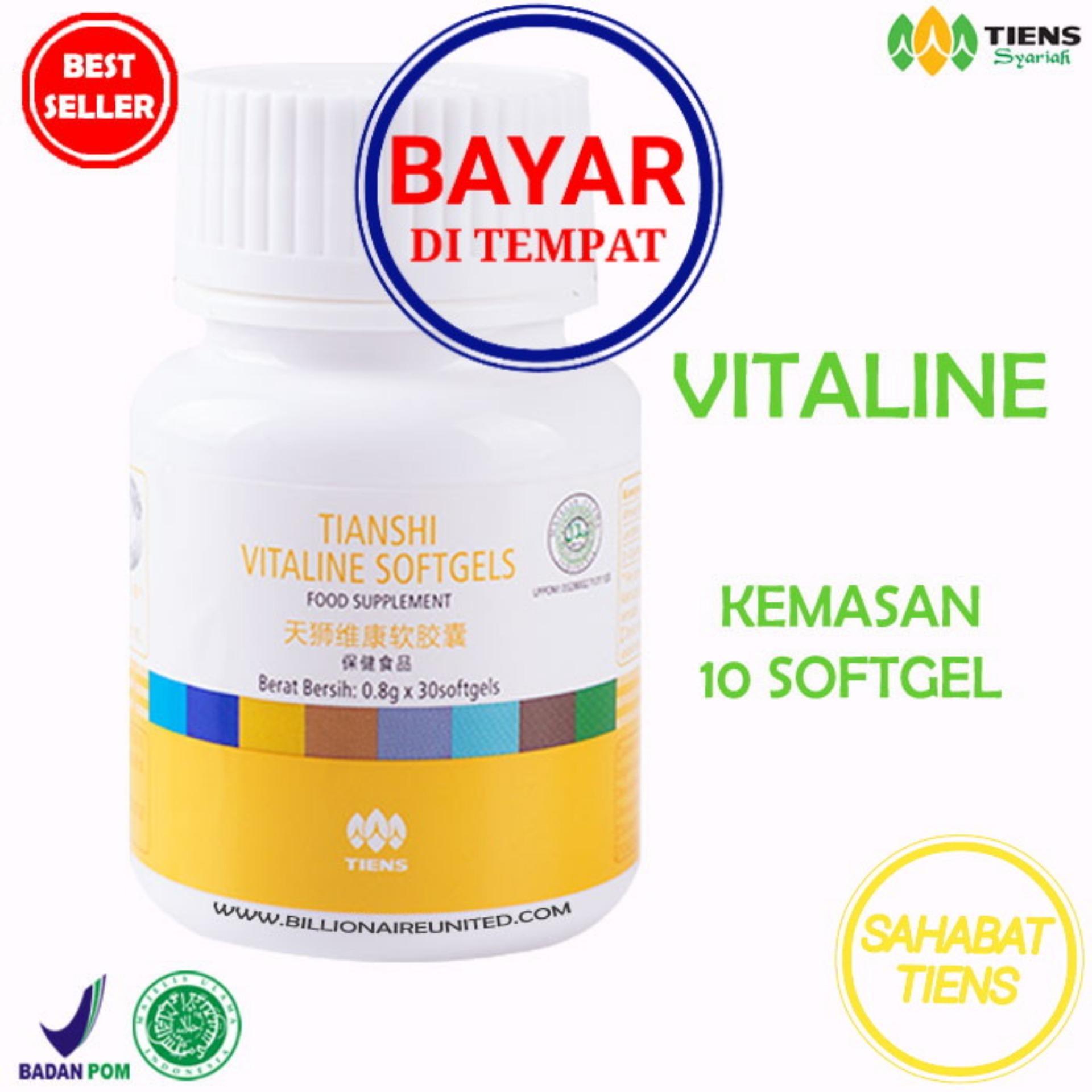 Tiens Vitaline Herbal Vitamin E Pembersih Jerawat Flek 10 Kapsul Murah