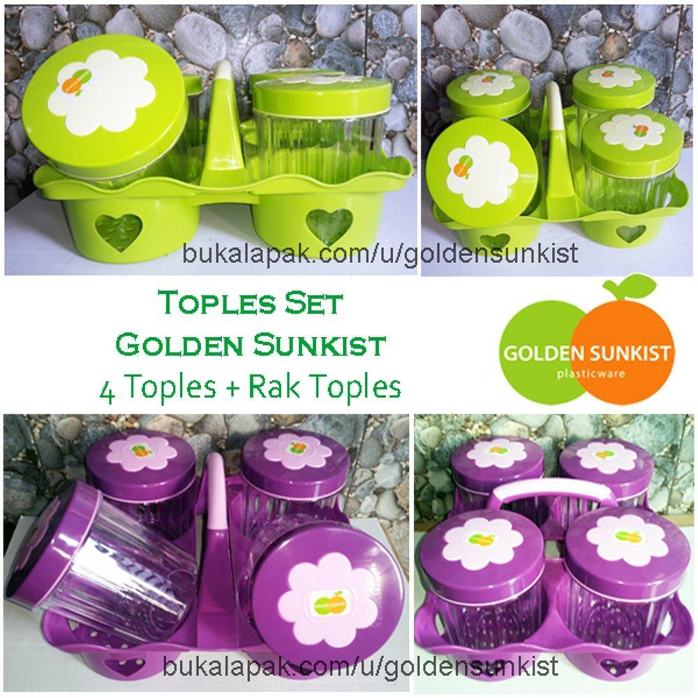 set toples 4 golden sunkist