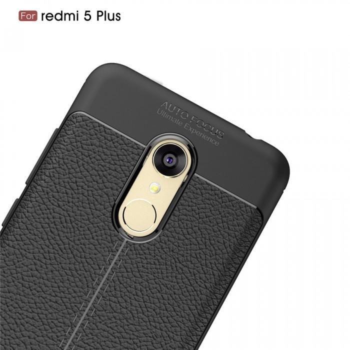 Case Auto Focus Softcase Casing for Xiaomi Redmi 5+ Plus - Hitam + Free Tempered