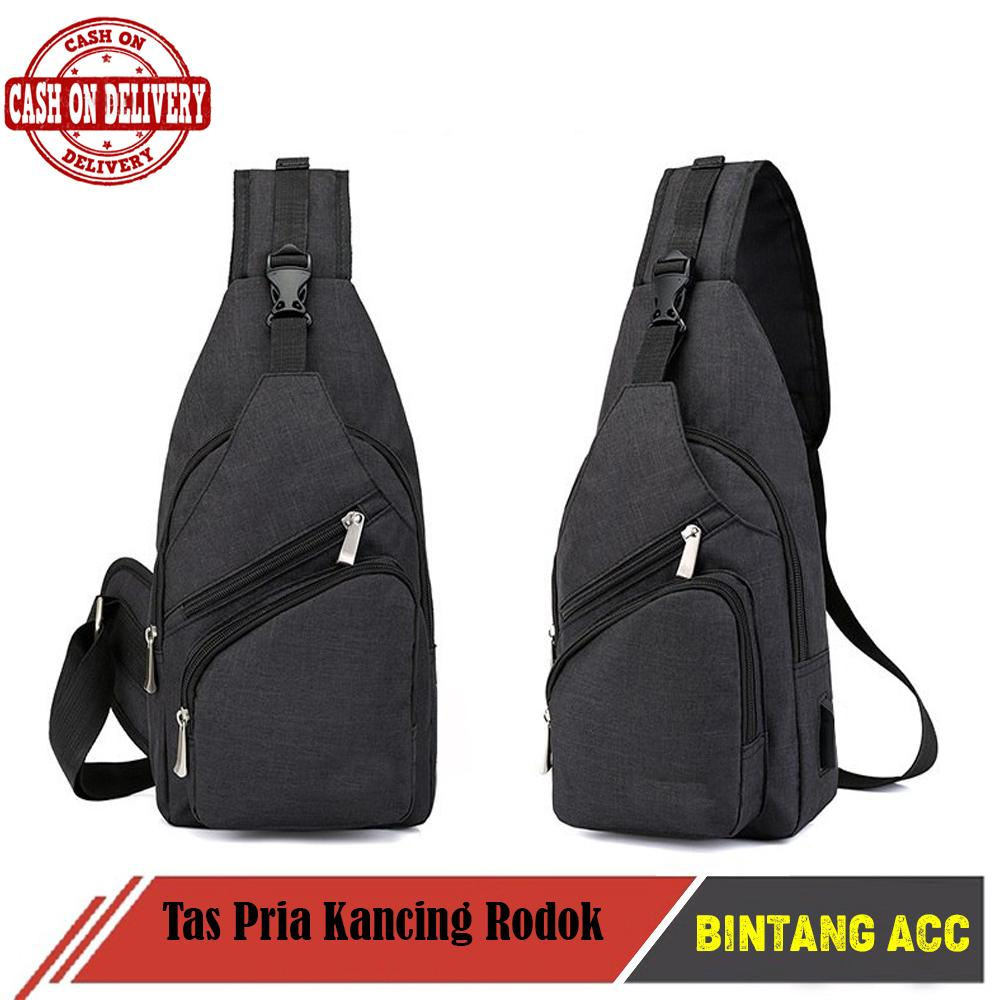 Bintang Acc - Tas Pria Kancing Rodok - Tas Slempang Import Impor Slempang Selempang Sling Bag
