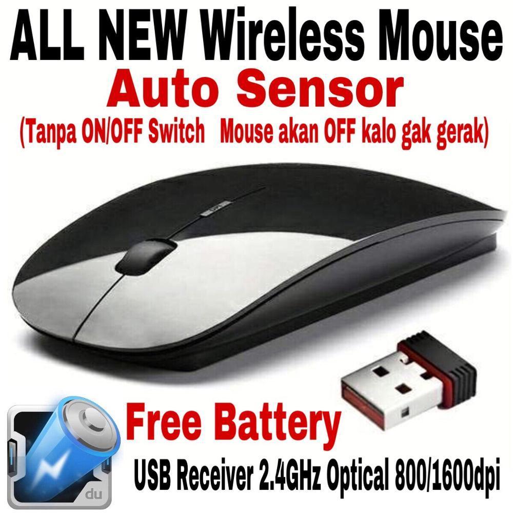 Magic Mouse Wireless 2.4GHz Compatible For PC Laptop/Notebook - BLACK di lapak AppShoppe appshoppe