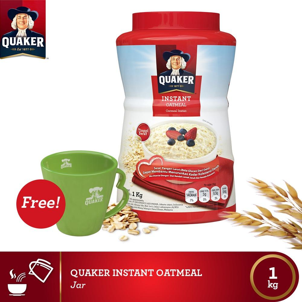 Promo Buy 1 Free Mug Quaker Instant Oatmeal Jar Indonesia