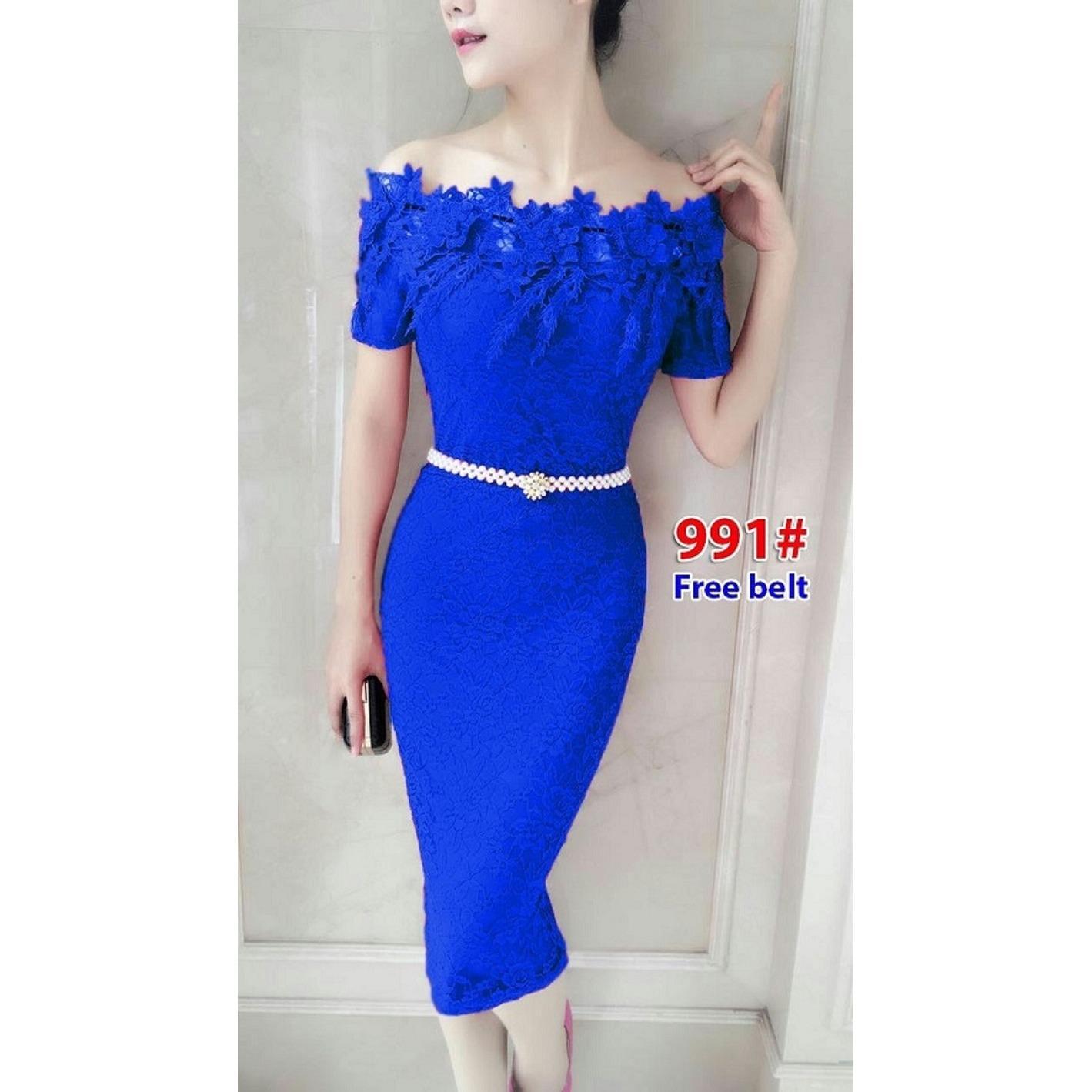GSD -Baju Wanita /Gaun Pesta /Baju Pesta /Minidress /Dress Brukat /Dress Import 991