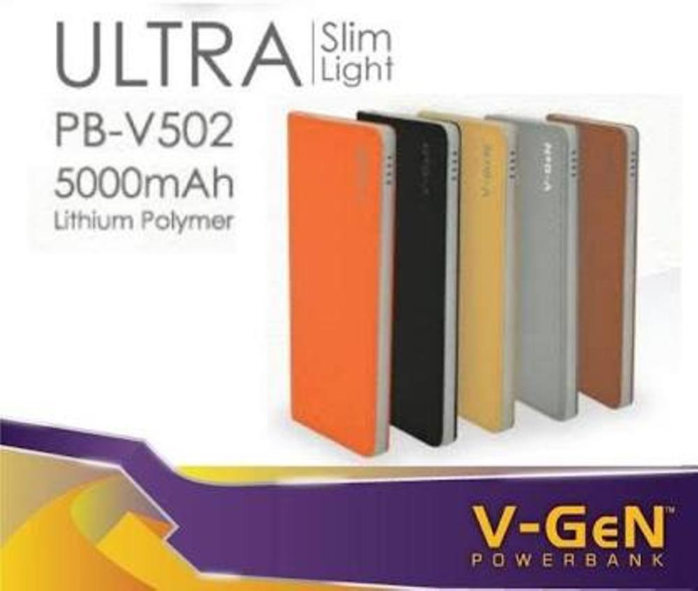 Powerbank 5000mah V502 Ultra sim V-GeN