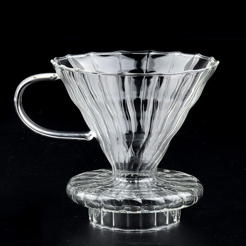 Review Glass Coffee Dripper Untuk Hario V60 Glass Coffee Filter Intl Terbaru