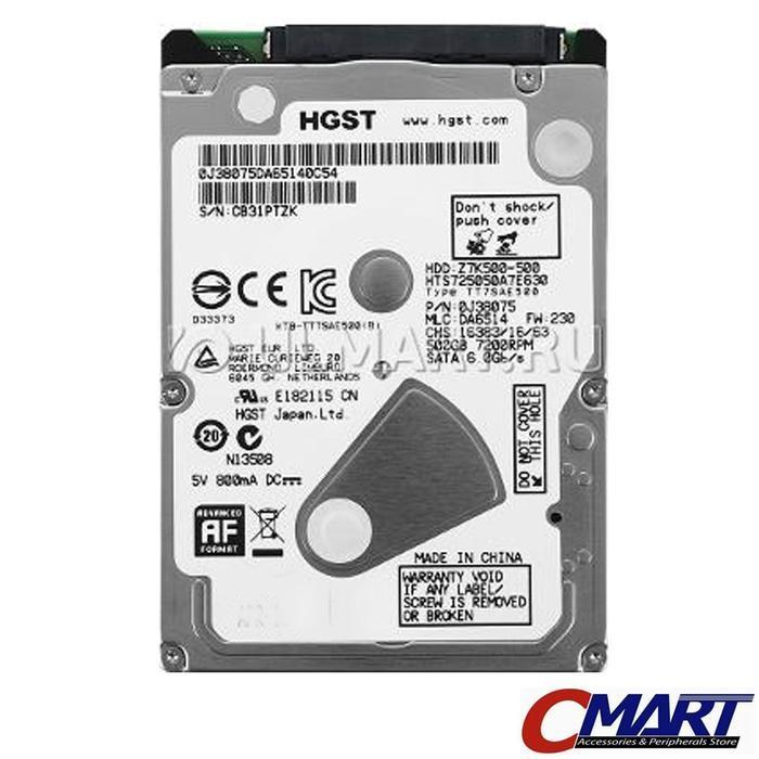 ORIGINAL - Hitachi HGST Laptop 500GB 7200R Notebook HDD hardisk harddisk Internal