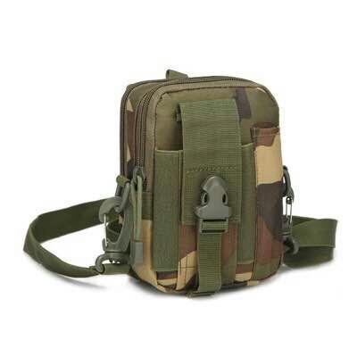Tas Selempang Mini Digger Tactical Molle Canvas Waist Small Bag Military - 1607-7ZV Tas