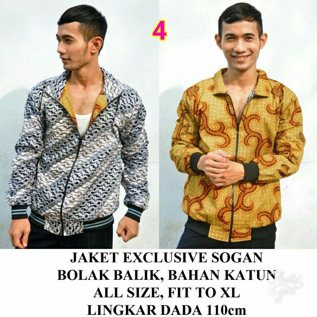 Review Jaket Batik Sogan Pria Bolak Balik Unik Jawa Tengah