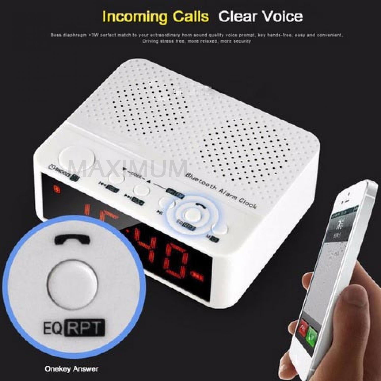 Kelebihan Taffware Speaker Bluetooth Jam Alarm Dengan Desktop Clock Meja Kd 66 5