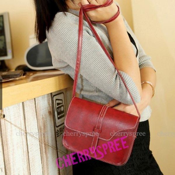 Montana Tas Agnes Mini Sling Bag Korean Fashion Wanita Kulit PU Leather