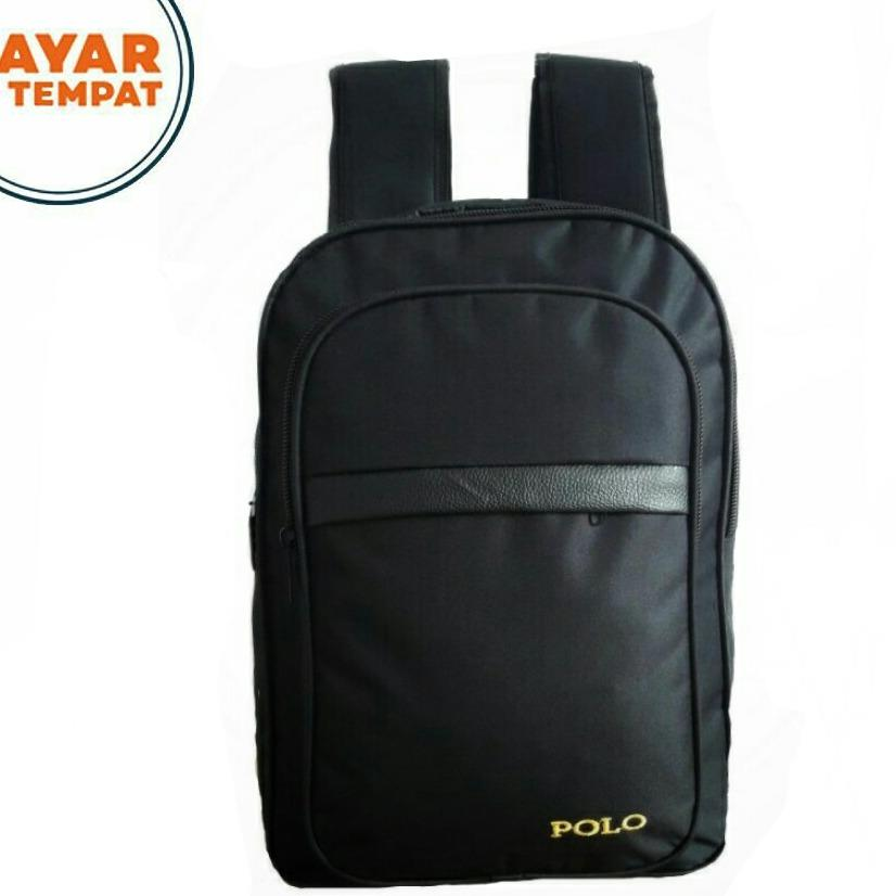Jual Tas Ransel Polo Outdoor Sport Simpel Casual Black Polo Original
