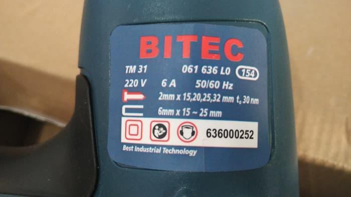 Detail Gambar Mesin Paku Tembak Listrik Bitec TM 31 / TM31 Terbaru