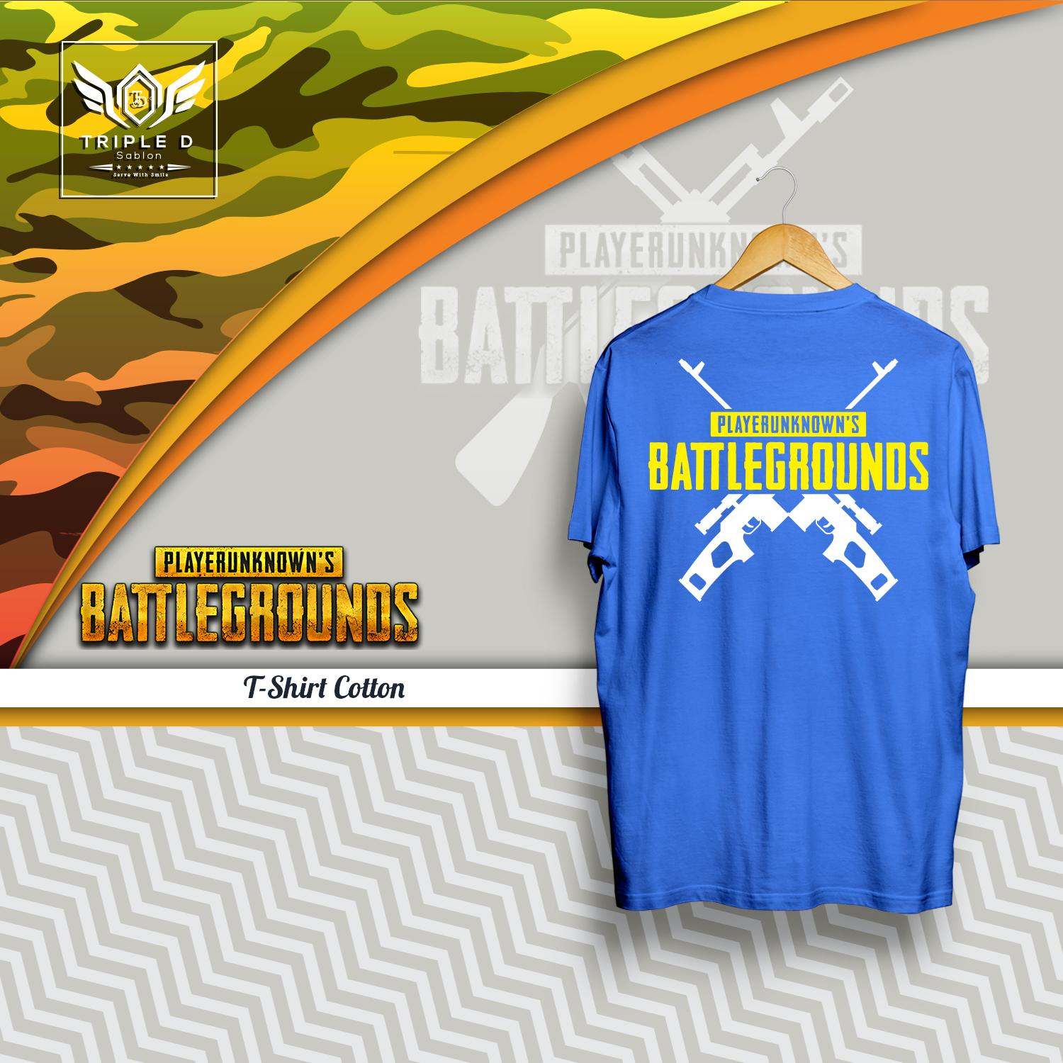 Kaos Distro pria wanita Games player unknown battlegrounds Triple D