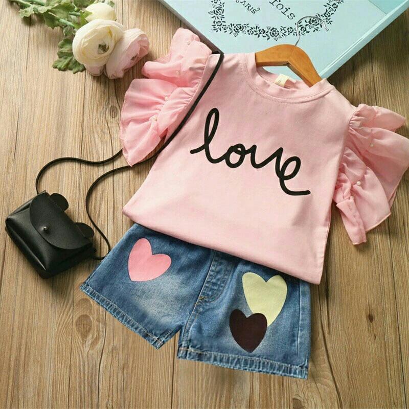 Honeyclothing Baju Anak Anak Belov Pink / Setelan Anak Perempuan / Pakaian Anak Cewek