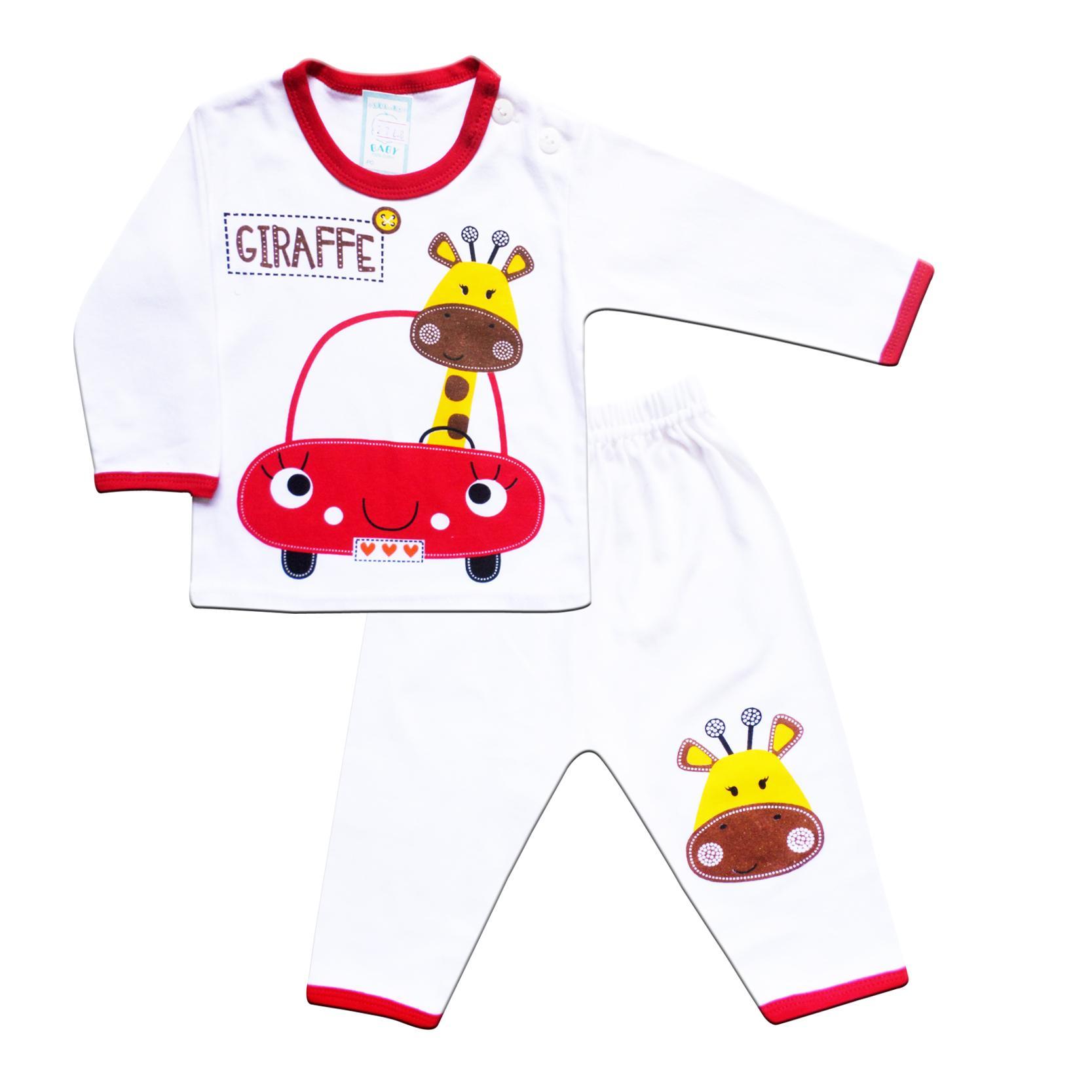 Skabe Baby Putih Baju Tangan Panjang Anak Bayi Laki Laki Setelan Kaos 2768