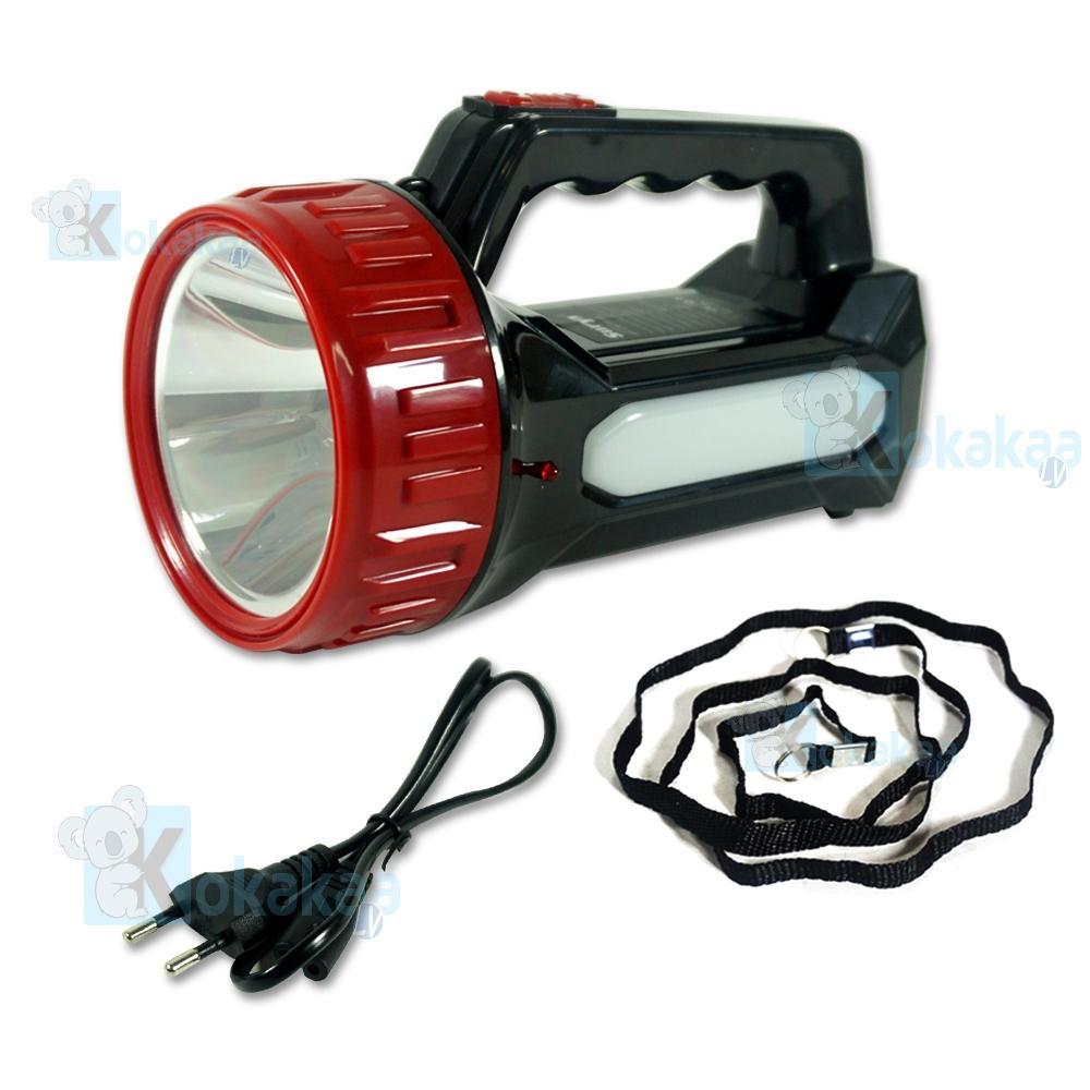Gambar Produk Rinci Surya Senter Led + Lampu Emergency 2 in 1 SHTLED 3W + Light LED 10SMD White Light Rechargeable 7Hours Terkini