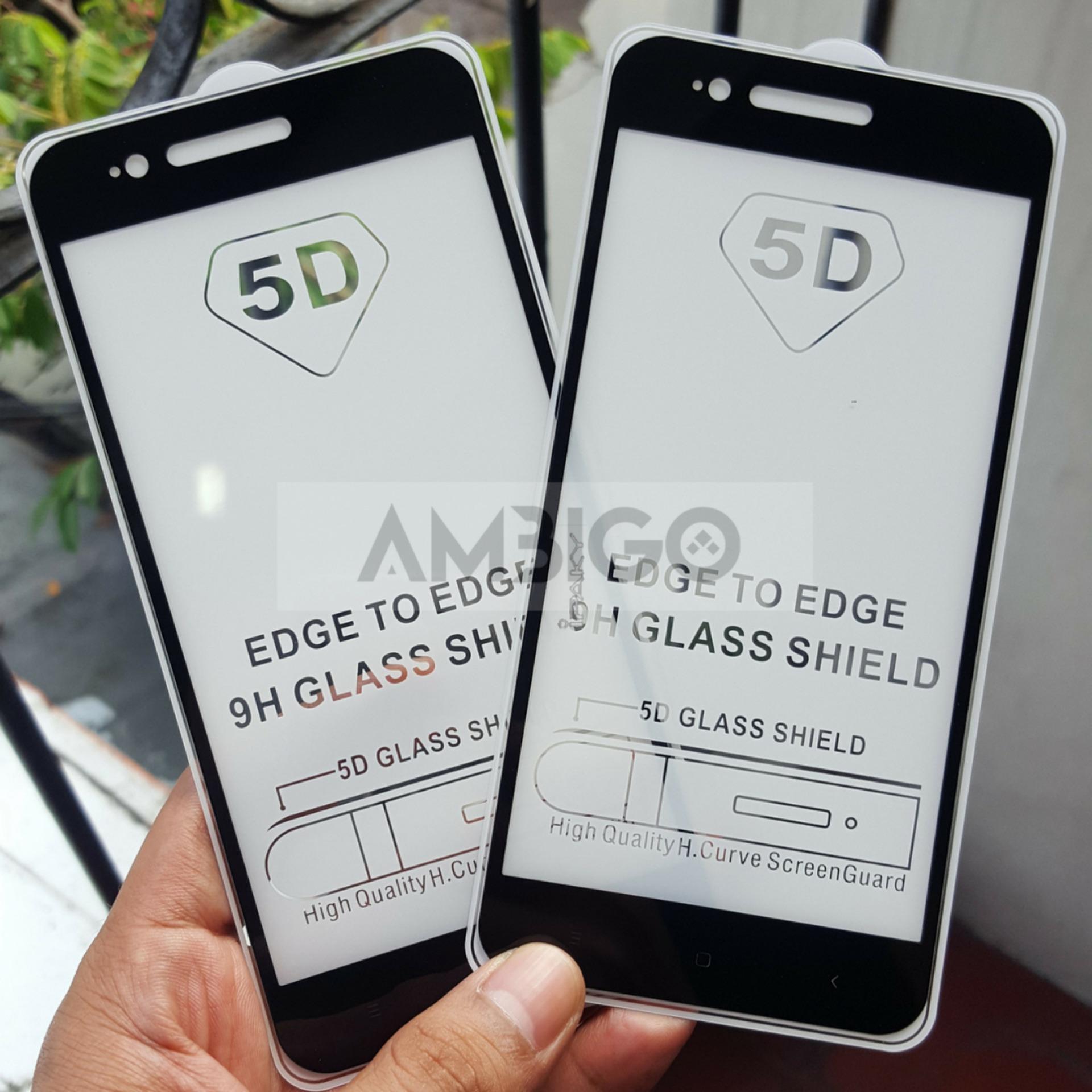 Ambigo Premium Tempered Glass 5D Full Cover Anti Gores Warna Kaca Full Lem For Xiaomi Mi ...